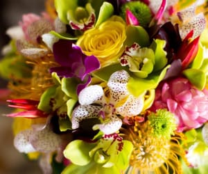 bouquet, colorful, and colors image
