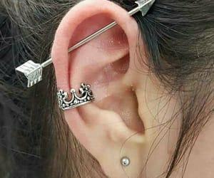 earrings, Piercings, and style image