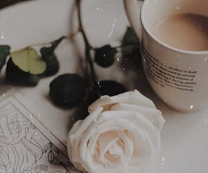 coffee, rose, and vintage image