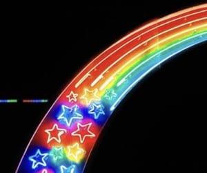 aesthetic, rainbow, and stars image