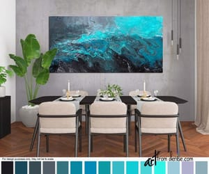 etsy, Abstract Painting, and bathroom pictures image