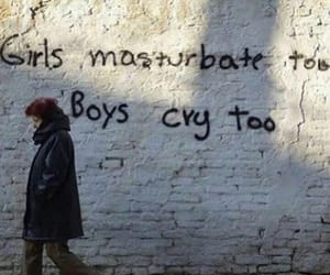 boys, wall, and gender image
