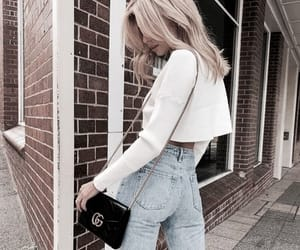 style, bag, and blonde image