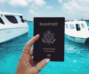 passport, sea, and summer image