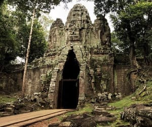 angkor wat, architecture, and Cambodia image