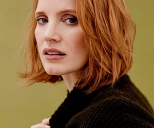 beauty, ginger, and jessica chastain image