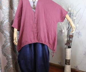 etsy, linen top, and single breasted image