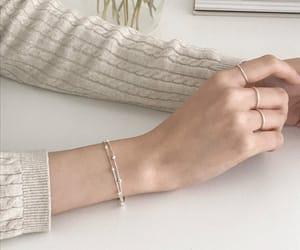 white, aesthetic, and bracelet image