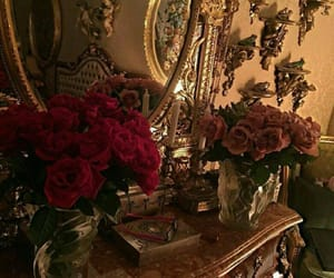 rose, flowers, and mirror image