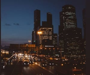 city, highway, and modern image