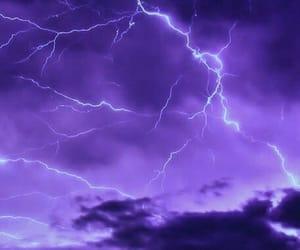 purple, background, and lightning image