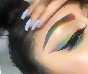 beauty, lashes, and eyelashes image