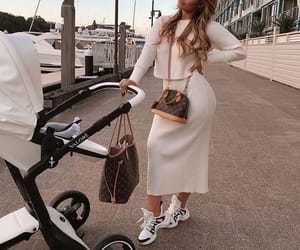 baby, Louis Vuitton, and mommy image