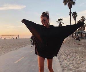fashion, girl, and beach image