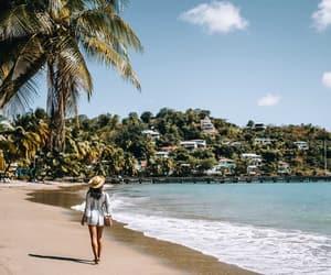 beach, girl, and holiday image