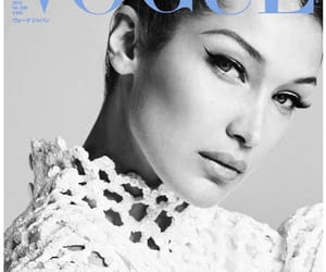 bella hadid, black and white, and japan image