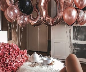 balloons, party, and surprise image