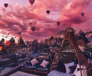 pink, sky, and travel image