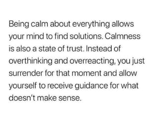 calm and quote image