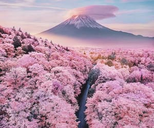 mountain, paisaje, and pink image