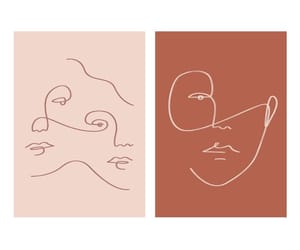 art, face, and lines image