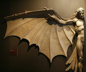 art, sculpture, and wings image