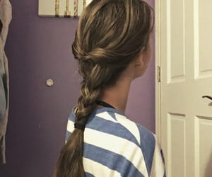 braids, girl, and girly image