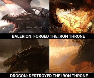 dragons, game of thrones, and drogon image