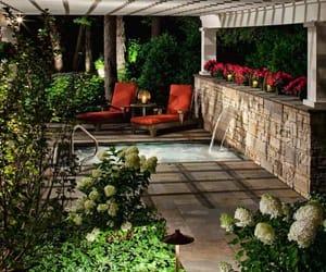 backyard, pergola, and inspiration image