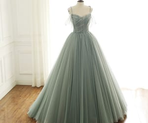long dress, prom dress, and tulle dress image