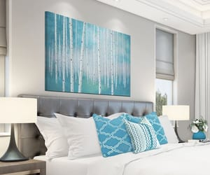 etsy, dining room wall art, and teal wall art image