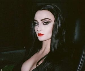 dark makeup, goth gf, and goth aesthetic image