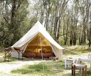 canvas tent, teepee tent, and bell tents image