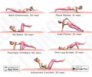 abs, love, and fitness image