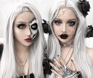 double, goth, and makeup image