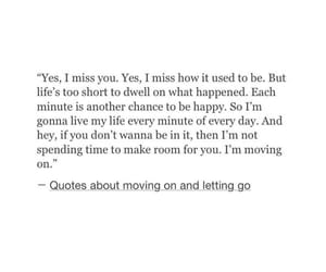 quote and moving on image