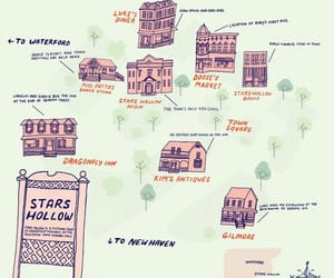gilmore girls, illustration, and maps image