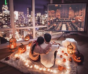 autumn, couple, and Halloween image
