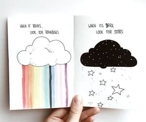 rainbow, art, and stars image