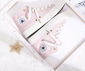 converse, pastel, and heart image
