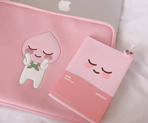 aesthetic, pink, and kakao friends image