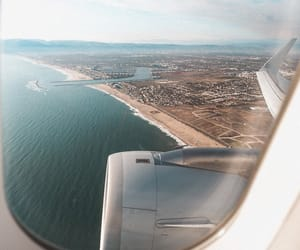 travel, airplane, and ocean image