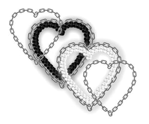 editing, chain, and heart image