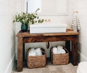 bathroom, brown, and cosy image