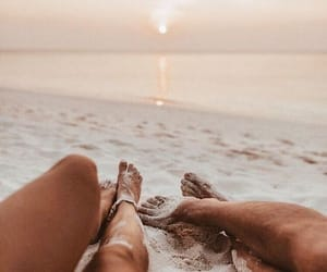beach, love, and date image