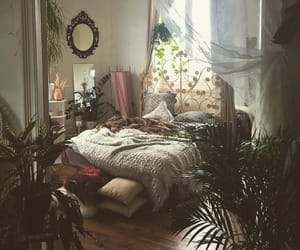 bedroom, inspo, and plants image
