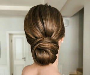 chic, hairstyle, and dress image