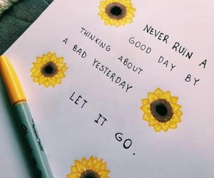 quotes, sunflower, and yellow image