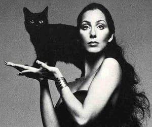 cher, cher, and black and white image
