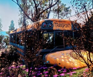broken, buried, and bus image